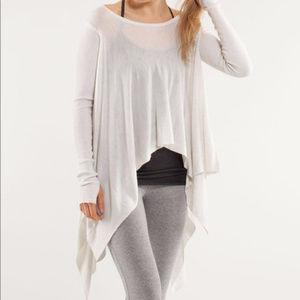 LULULEMON enlightened pullover heathered white AB6